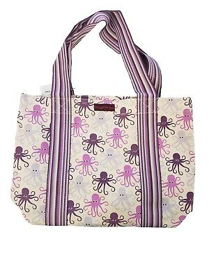 bfb8b940f155 BUNGALOW 360 OCTOPUS Beach Tote Carryall Bag Natural Vegan Cotton Canvas New