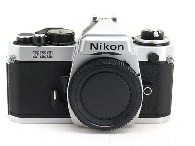 Nikon FE2 35mm film Camera - Body Only with Titanium Shutter - Excellent