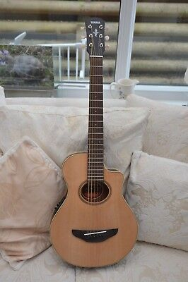 Yamaha APX T2 3/4 scale electro acoustic guitar and padded gigbag