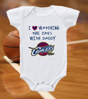 Cleveland Cavaliers Love Watching With Daddy Infant Bodysuit Baby Shirt