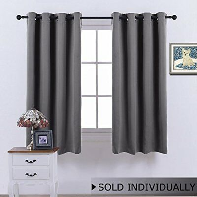 Bedroom Blackout Curtain Window treatment - (Grey Color) Home Decoration Thermal