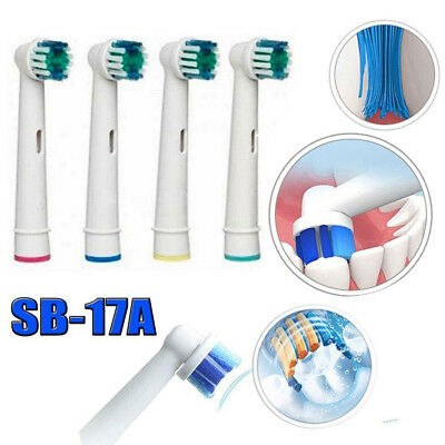 2pcs Electric Toothbrush Heads Replacement for Braun Oral B SB-17A Soft Brush US