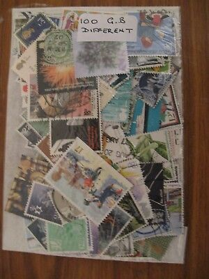 SPECIAL OFFER,100 GB STAMPS, ALL DIFFERENT, OFF PAPER, ONLY £0.99p POST PAID