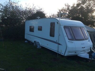 Swift Conqueror 630 Twin Axle Caravan 2005 With Full Awning 4 Berth Fixed Bed
