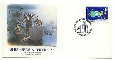Great Britain FDC Fleetwood Premium Christmas 1981 Singles Religion Santa  D034