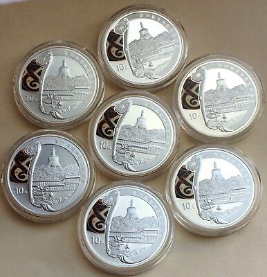 7-2008 China Park 10 Yuan 1 oz. Silver Proof Coins Beijing Olympics Games