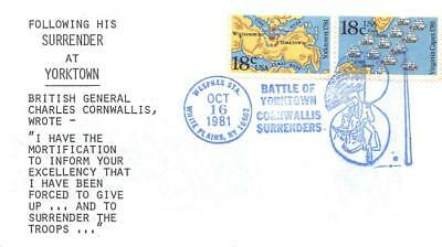 1937-38 18c Battle of Yorktown & Virginia Capes, First Day Cover Cach [D281303]