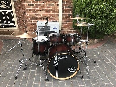 Tama Hyperdrive Maple Shell Drumkit & Cymbals