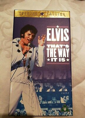 ELVIS PRESLEY That's The Way It Is (Special Edition) VHS PAL