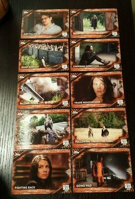 Lot of 12  2017 TOPPS AMC THE WALKING DEAD SEASON 6 BASE CARDS RUST BORDER SP
