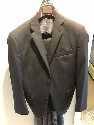 Calvin Klein Grey Striped Suit - 36S