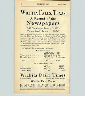 1923 Paper Ad Newspaper Wichita Daily Times Milwaukee Journal Advertising Merit