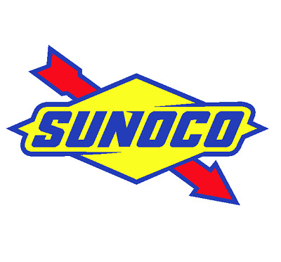 SUNOCO Oil Gasoline Vinyl Decal (5 Sizes available) sticker