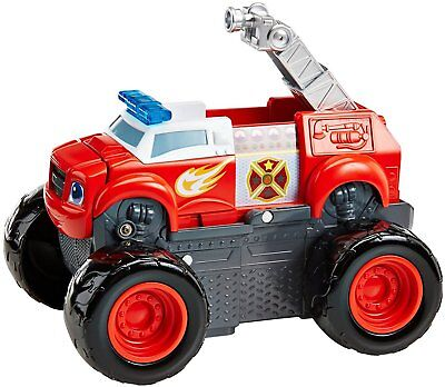 Fisher Price Blaze Monster Truck Machine Transformer Fire Engine 3+ Toy Car Race