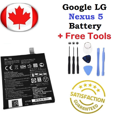 NEW Google Nexus 5 Replacement Battery D820/1 BL-T9 2300mAh with FREE TOOLS