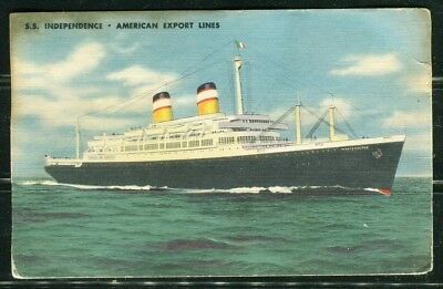 Postcard Ship SS INDEPENDENCE American Export Lines