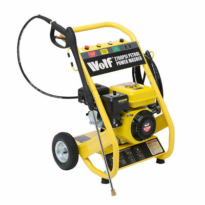 Wolf 186BAR 2700PSI 6.5 HP 4 Stroke Petrol  Power Pressure Washer 12m Hose