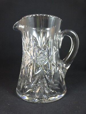 Signed HAWKES BRILLIANT CUT GLASS PITCHER - Gorgeous!