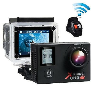 Campark ACT76 Waterproof Camera 4K 16MP Sports Action Camera Wifi 2.0'' LCD S...