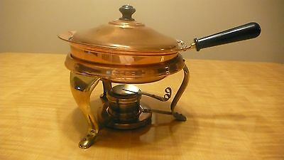 Vintage Copper & Brass Chafing Dish stamped Japan