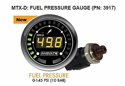 Innovate 3917 MTX-D Fuel Pressure Gauge 0-145 PSI 10 BAR w/ Low Press Warning