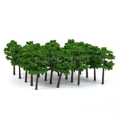 40 Model Train Trees Railroad Scenery Wargame Diorama Landscape Z Scale 5cm