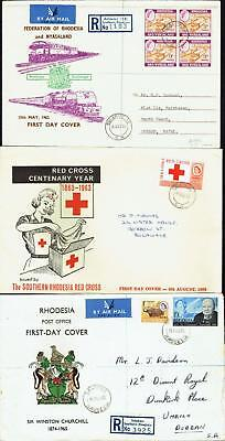 Rhodesia & Nyasaland, First Day Covers 1962-63-65, USED, FDC650