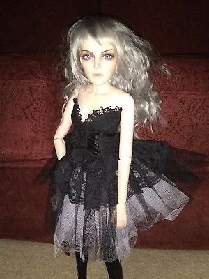 1/3 BJD Sexy Witch Female Woman Complete Black Dress Custom Face-Up  Large Doll