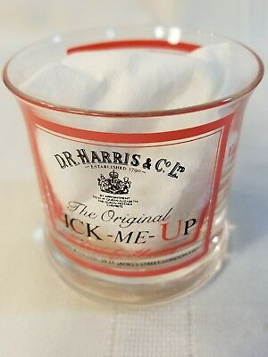 """D.R. Harris & Co Advertising Glass  Pick-Me-UP London """"Apothecaries since 1790"""""""