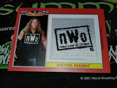 2016 1/1 Topps WWE heritage cloth patch real Kevin Nash 1/1 Finn Balor Asuka ROH