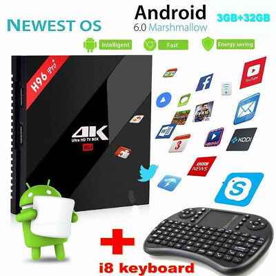 3GB 32GB H96 PRO& Smart Android 6.0 TV Box Amlogic S912 Octa core WiFi BT4.1 KDO