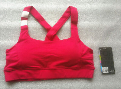 **Hurley**Women's Padded Sport Bra Crop Top  Yoga Fitness Seamless Racerback SML