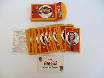 Original Coca Cola 1940's Playing Cards Used Good Condition with Stamp