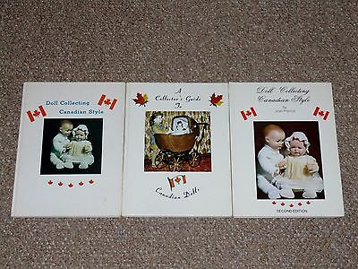 Lot of 3 Jean Francis Doll Collecting Canadian Style Books Signed Limited OOP