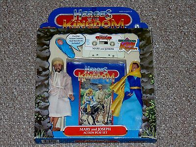 1986 Wee Win Toys Heroes of the Kingdom Jesus & Mary Set Complete in Box Mego