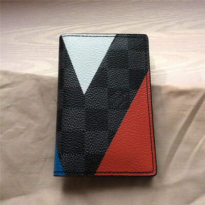 Louis Vuitton Pre-owned Men's Leather Canvas Bi-Fold ID Case Wallet