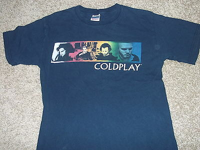 COLDPLAY rare Twisted Logic 2005 US tour shirt Adult Small