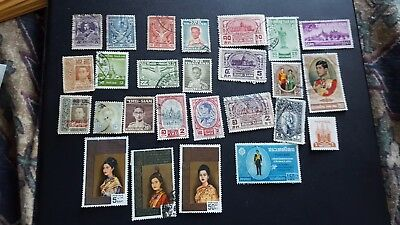 thailand stamps used collection classics lot n387