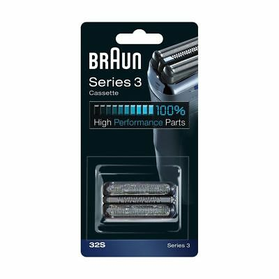 BRAUN Series3 Cassette 32S Replacement Silver Type #5413 Contour Shaver Part M_o