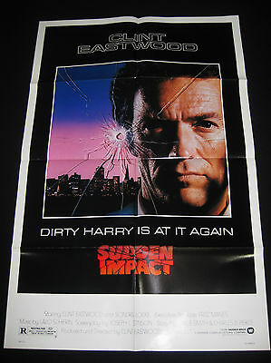 Sudden Impact 1983 * Clint Eastwood * Dirty Harry * One Sheet * C10 Mint Unused!