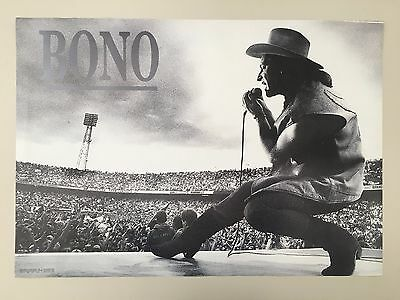 U2,BONO, RARE AUTHENTIC 1980's  POSTER