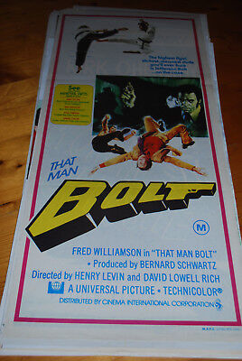 THAT MAN BOLT - Australian original movie poster daybill-