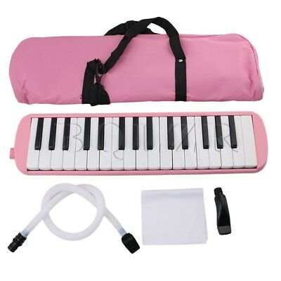 Portable 32 Piano Keys Melodica with Carrying Case Pink