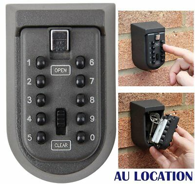 Outdoor Combination Key Safe Box Wall Mounted Weather Resistant Security Home WO