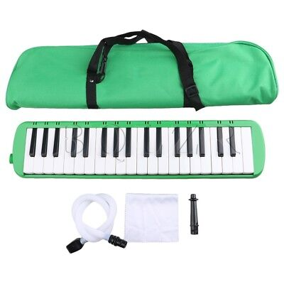 Portable 37 Note Piano Keys Melodica w/ Carrying Case Green