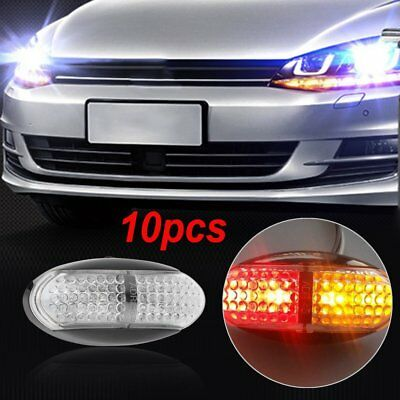 10X 12V 24V Side Marker DC Amber Red Clearance Lights LED Trailer Truck AU WO