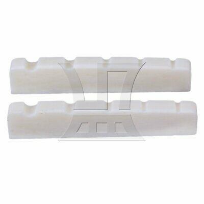 Cattle Bone 5 Strings Guitar Slotted Nut for Bass Guitar Set of 2 White