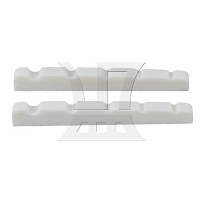 45mm Cattle Bone 5 Strings Slotted Nut for Bass Guitar Set of 2 White