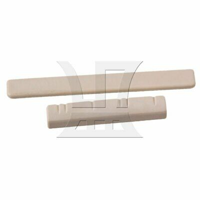 3.8x0.7x0.5cm Nut 6.2x0.7x0.3cm Bridge Saddle for 6 Strings Ukulele