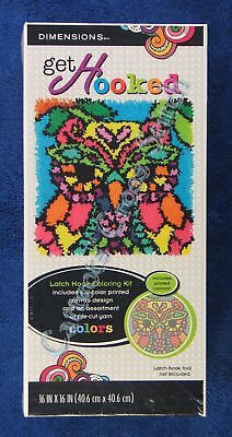 "Latch Hook Kit Colourful Owl 16"" x 16"" Dimensions Printed Canvas"